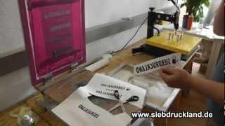 Siebdruck Transfer | Transferdruck und Textildruck Anleitung zum Bedrucken mit Plastisoltransfer