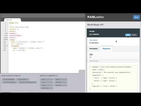 42  RAML RESTful API Modeling Language
