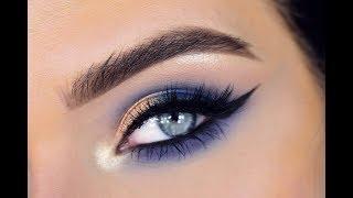 NEW Morphe 35V Eyeshadow Palette | Blue Eye Makeup Tutorial