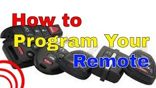Code Alarm Pro Remote Programming HOW TO (later model)