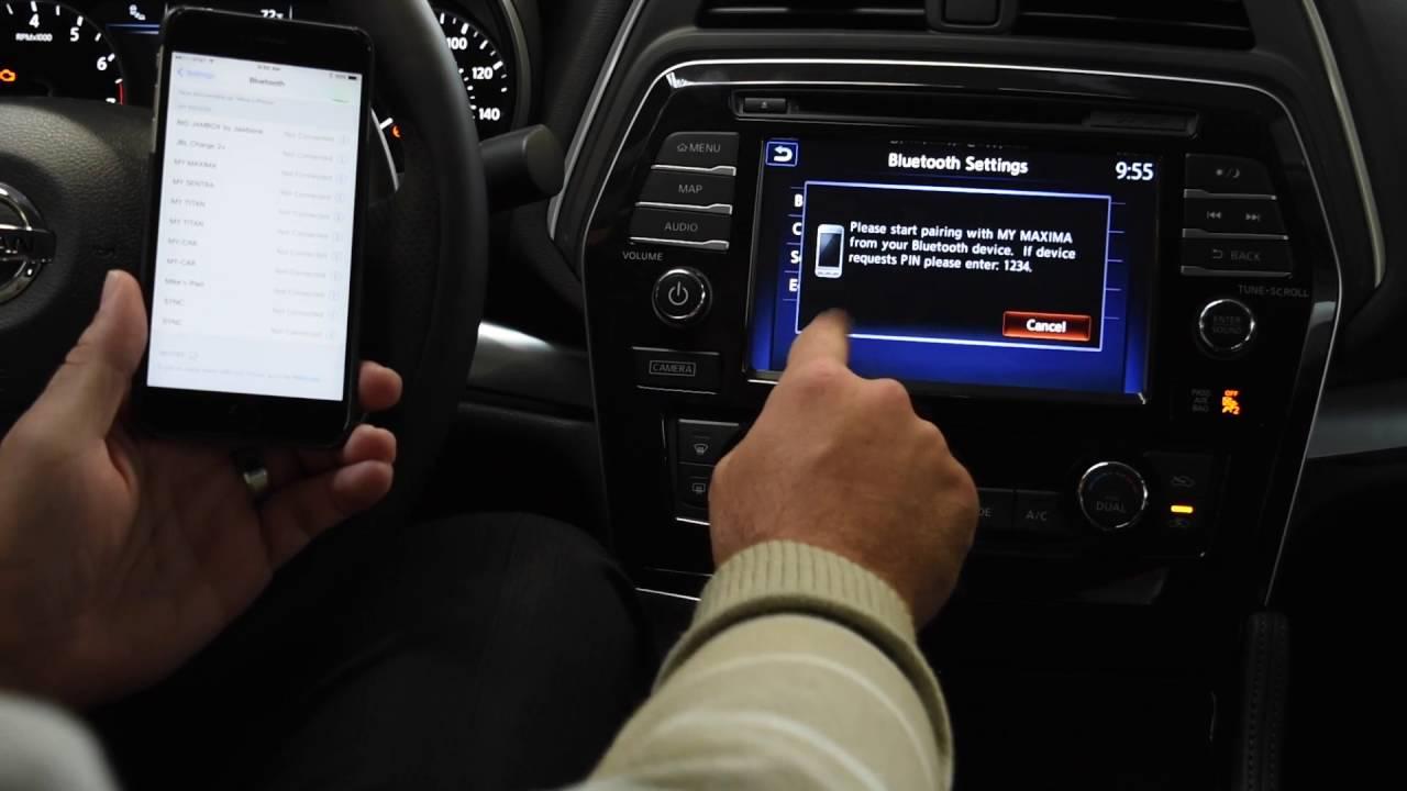 New Toyota Corolla >> Bluetooth Tutorial | 2017 Nissan Maxima | iPhone Pairing ...
