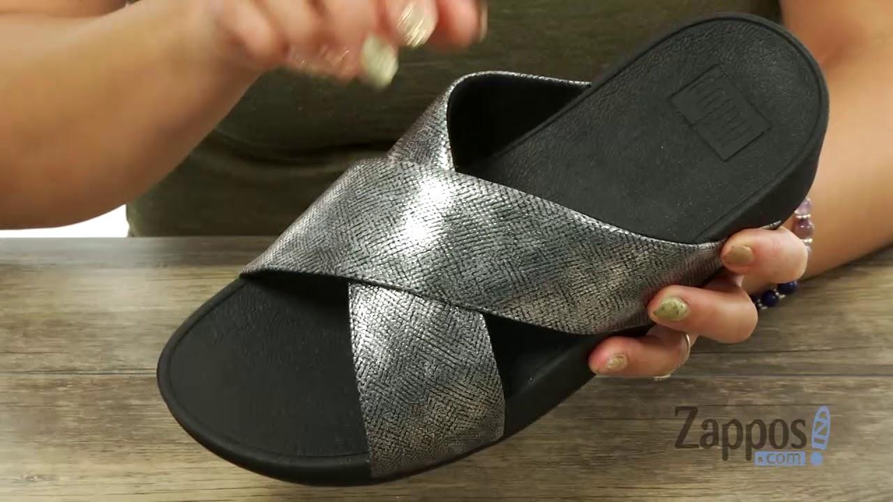 3983f603b5fd97 FitFlop Lulu Cross Slide Shimmer Print Sandal SKU  9018221 - YouTube