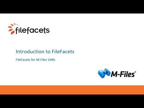 M Files Webinar Introducing FileFacets the Data Migration 20170118