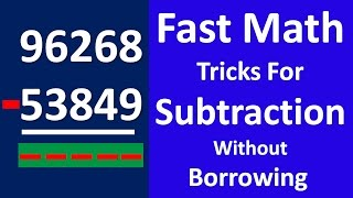 Fast Maths Trick For Subtraction without Borrowing - Vedic Maths Trick