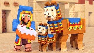 Llama \u0026 Wandering Trader Life - Minecraft Animation