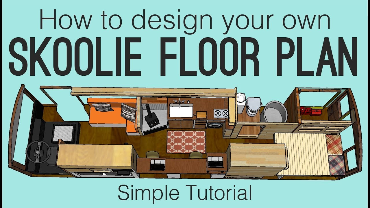 school bus conversion floor plan simple tutorial to design your own skoolie youtube. Black Bedroom Furniture Sets. Home Design Ideas