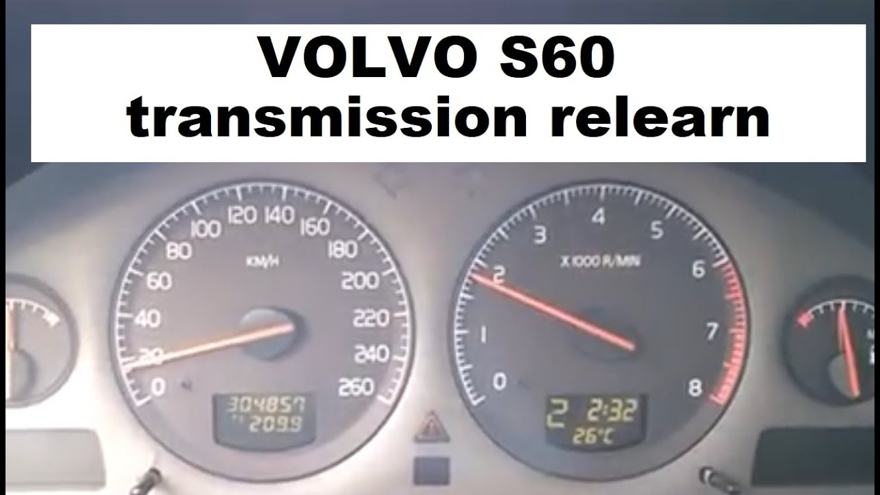 Transmission Adaptations reset in Vida and relearn procedure tips Volvo  2001-2009