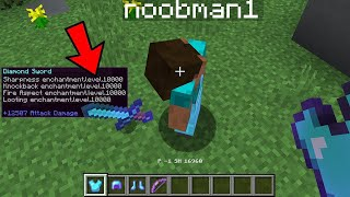I gave minecraft noobs OP ITEMS to cheat with in UHC...