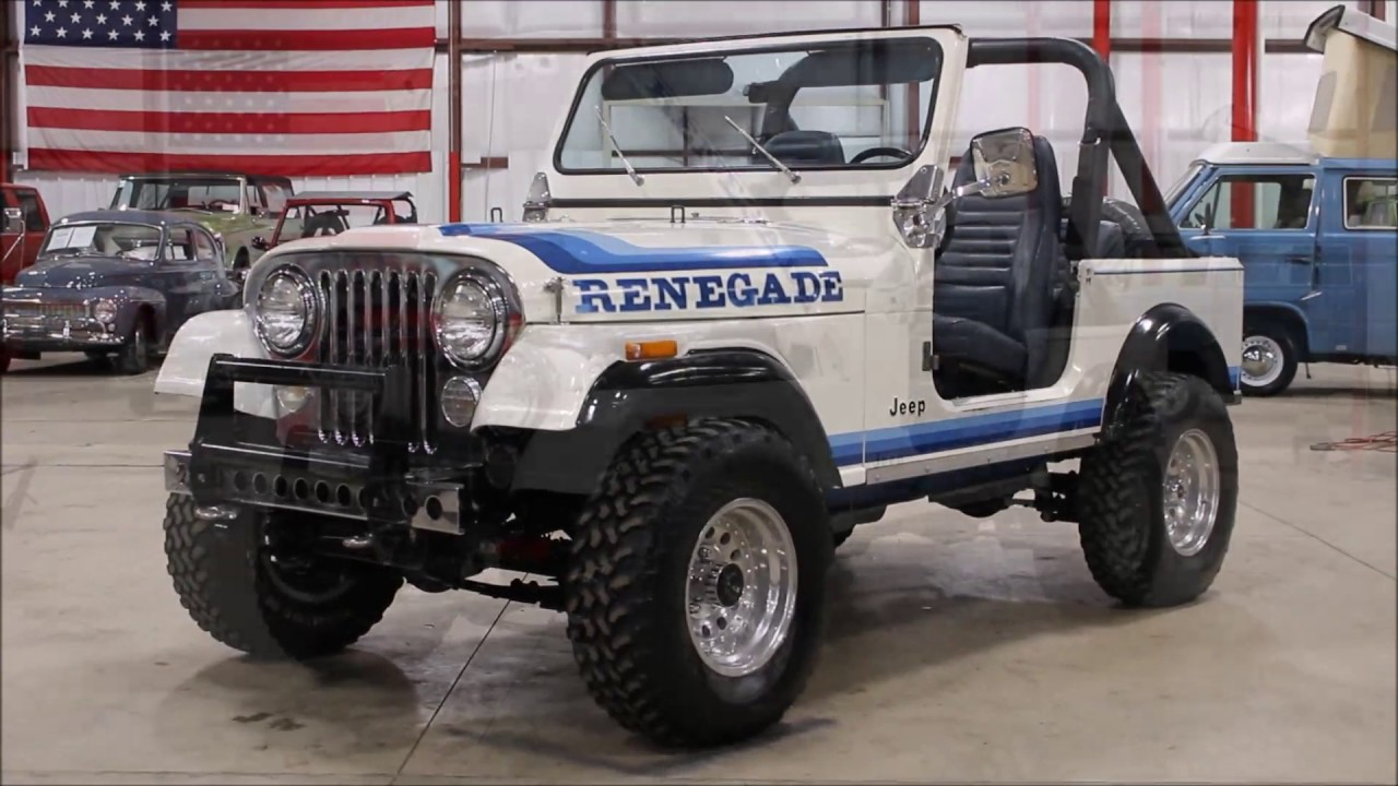 Jeep Renegade Models >> 1982 Jeep CJ7 Renegade white - YouTube