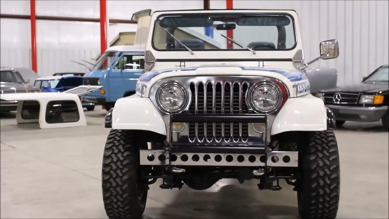 1982 jeep cj7 renegade white [ 1280 x 720 Pixel ]