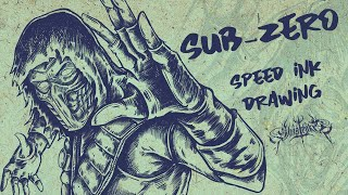 Sub- Zero ( Mortal Kombat) Speed Ink Drawing - Ghostroke