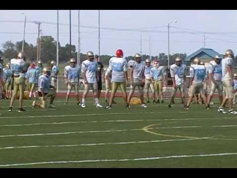 Chanute High School pre-season FB practice