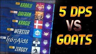 Kabaji, Dafran, Kragie: 5 DPS vs GOATS