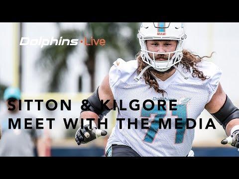 Dolphins Live: Josh Sitton and Daniel Kilgore meet with the media