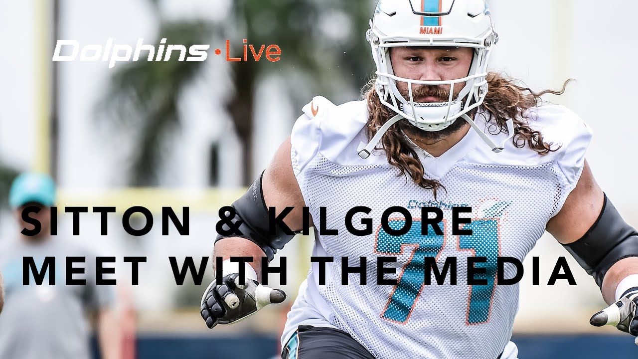 Dolphins live josh sitton and daniel kilgore meet with the media miamidolphins dolphins nfl m4hsunfo