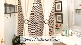 ♥ Glam Home ♥ Guest Bathroom Tour & Organization ♥ BUDGET FRIENDLY