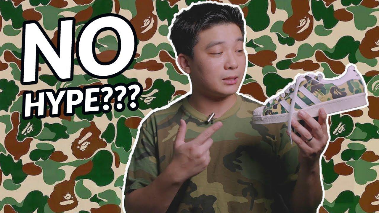"""Đập Hộp + Đánh giá + On Feet đôi BAPE x Adidas Superstar 80s """"Camo"""" - Hung Dinh"""