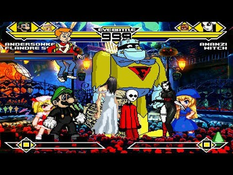 Halloween Party 4v4 Patch MUGEN 1.0 Battle!!!