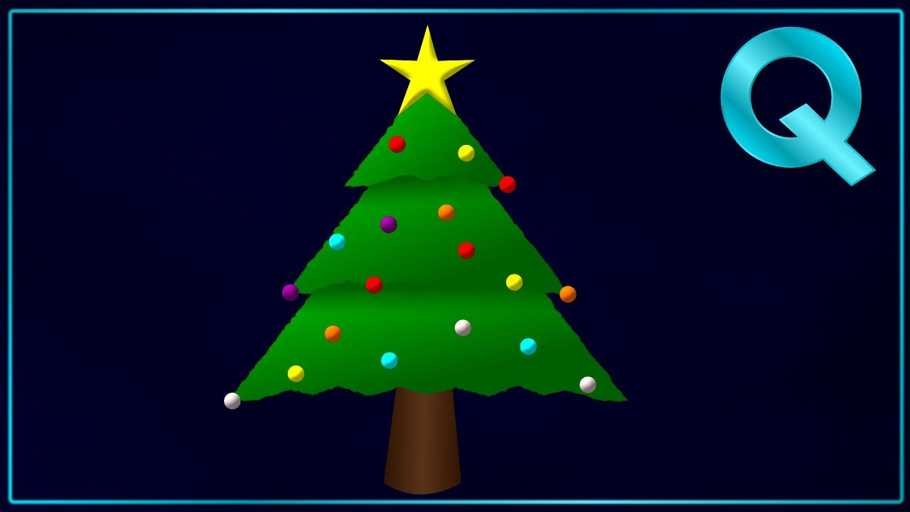 How to draw a Christmas Tree in Inkscape - YouTube