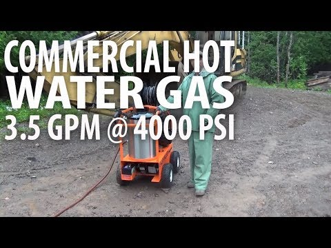 Easy Kleen's Commercial Hot Water Gas Pressure Washer - 3.5 GPM @ 4000 PSI