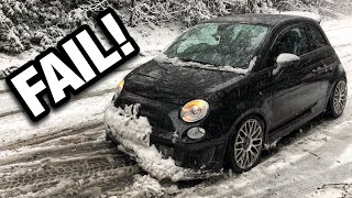 Sorry Gaskings! CarCon Fail - My Modified Abarth 595 Got Stranded In Snow!
