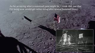 Buzz Aldrin Shows Us How to Walk on the Moon - 4k