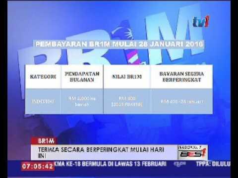 BR1M MULA DIAGIHKAN SECARA BERPERINGKAT HARI INI 28 JAN 2016
