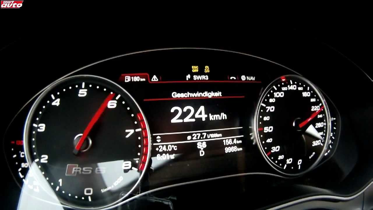 audi rs6 2013 beschleunigung 0 300 km h sport auto youtube. Black Bedroom Furniture Sets. Home Design Ideas