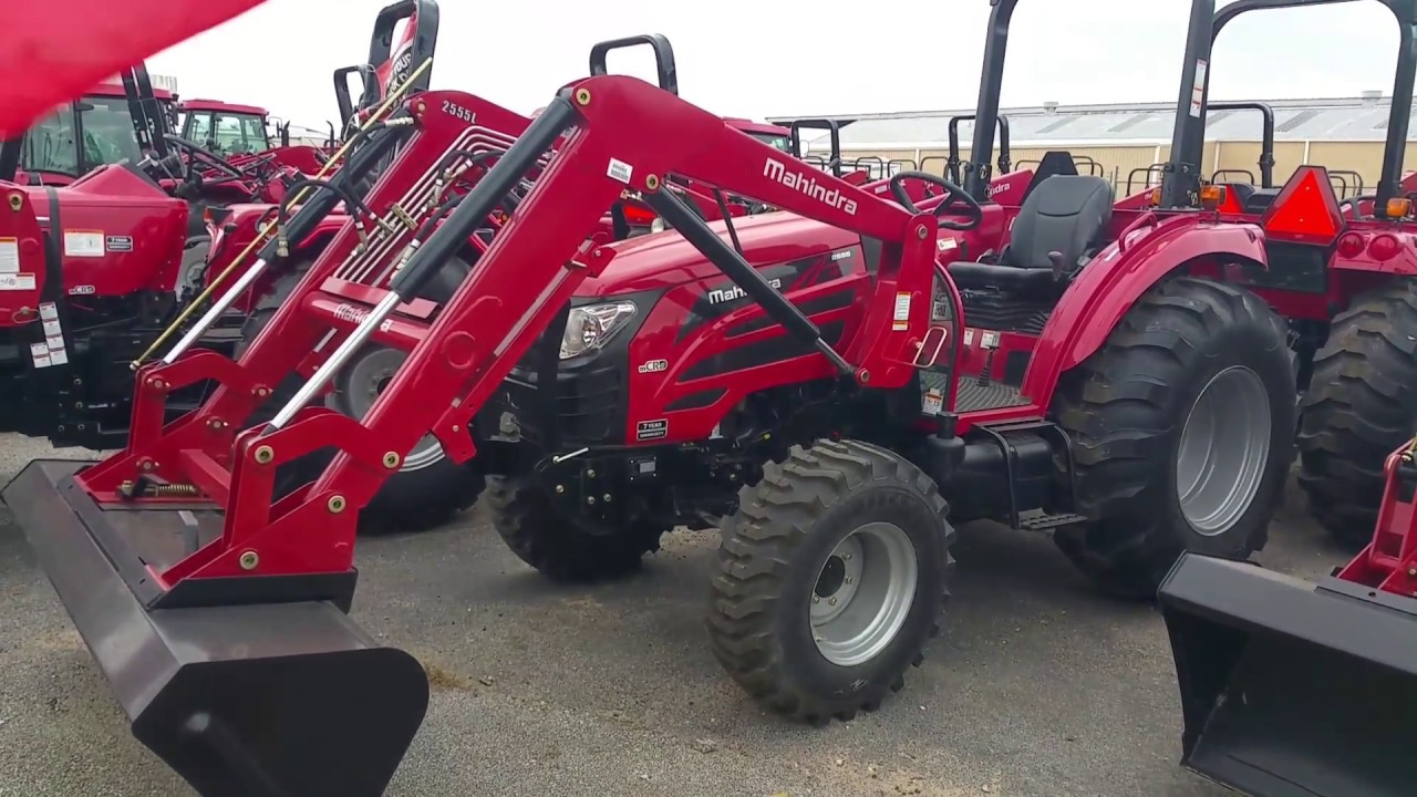 Mahindra 2555 HST 4w/d with a loader