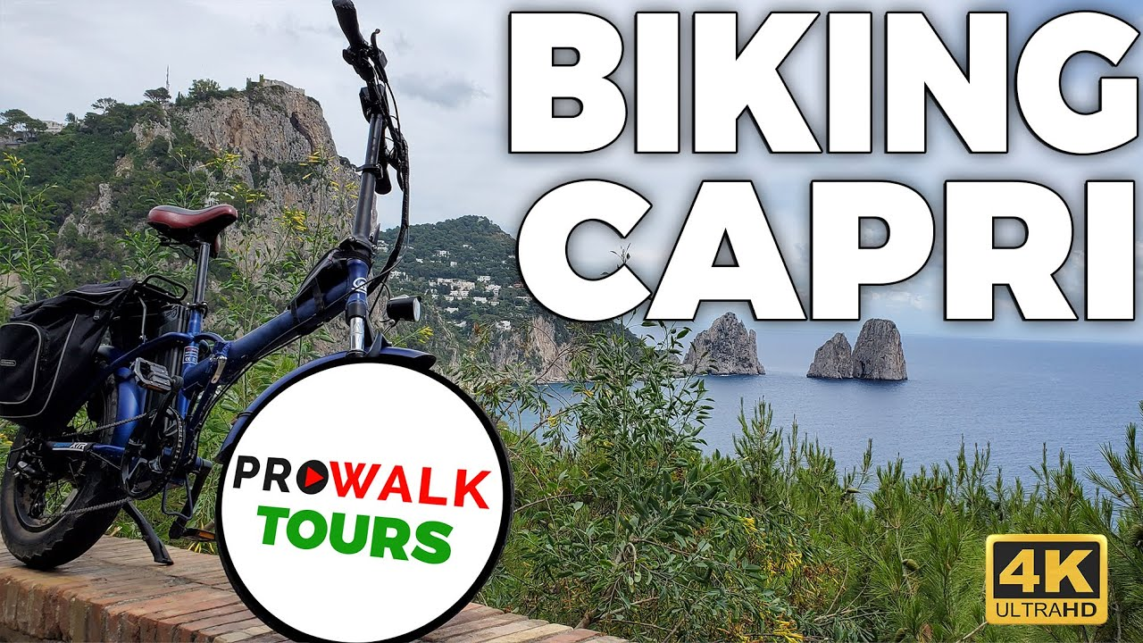 Island of Capri Biking Tour in 4K
