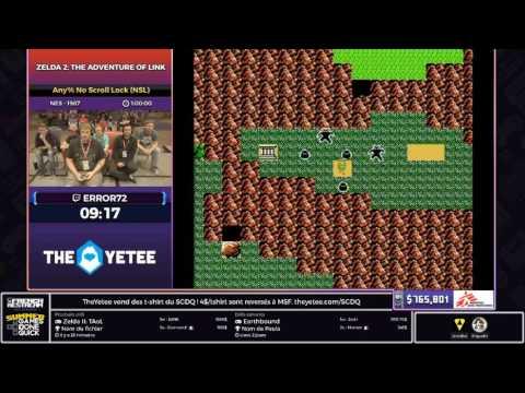 [SGDQ17 Restream FR] Zelda II: The Adventure of Link (Any% No Scroll Lock (NSL))