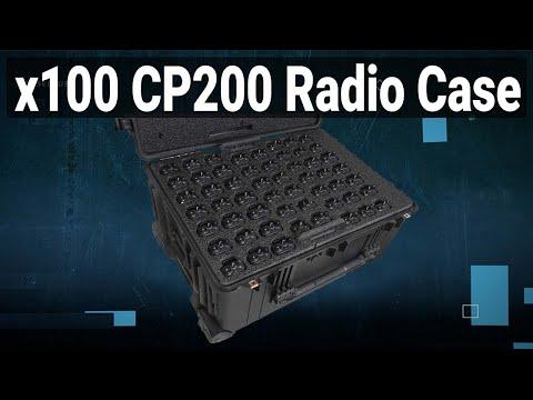 100 Motorola CP200 Radio Case - Video