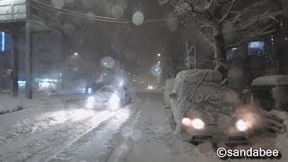 Repeat youtube video '14.2.14.記録的大雪に見舞われた東京都上野。Tokyo that was struck by a record heavy snow on February 14.