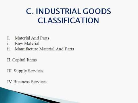 Marketing Tutorial Lecture in hindi - industrial goods classification lecture 21