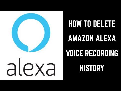 How to Delete Amazon Alexa Voice Recording History