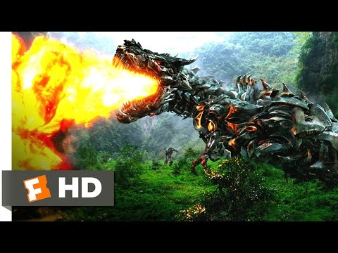 Transformers: Age of Extinction (7/10) Movie CLIP - Dinobots Join the Fight (2014) HD
