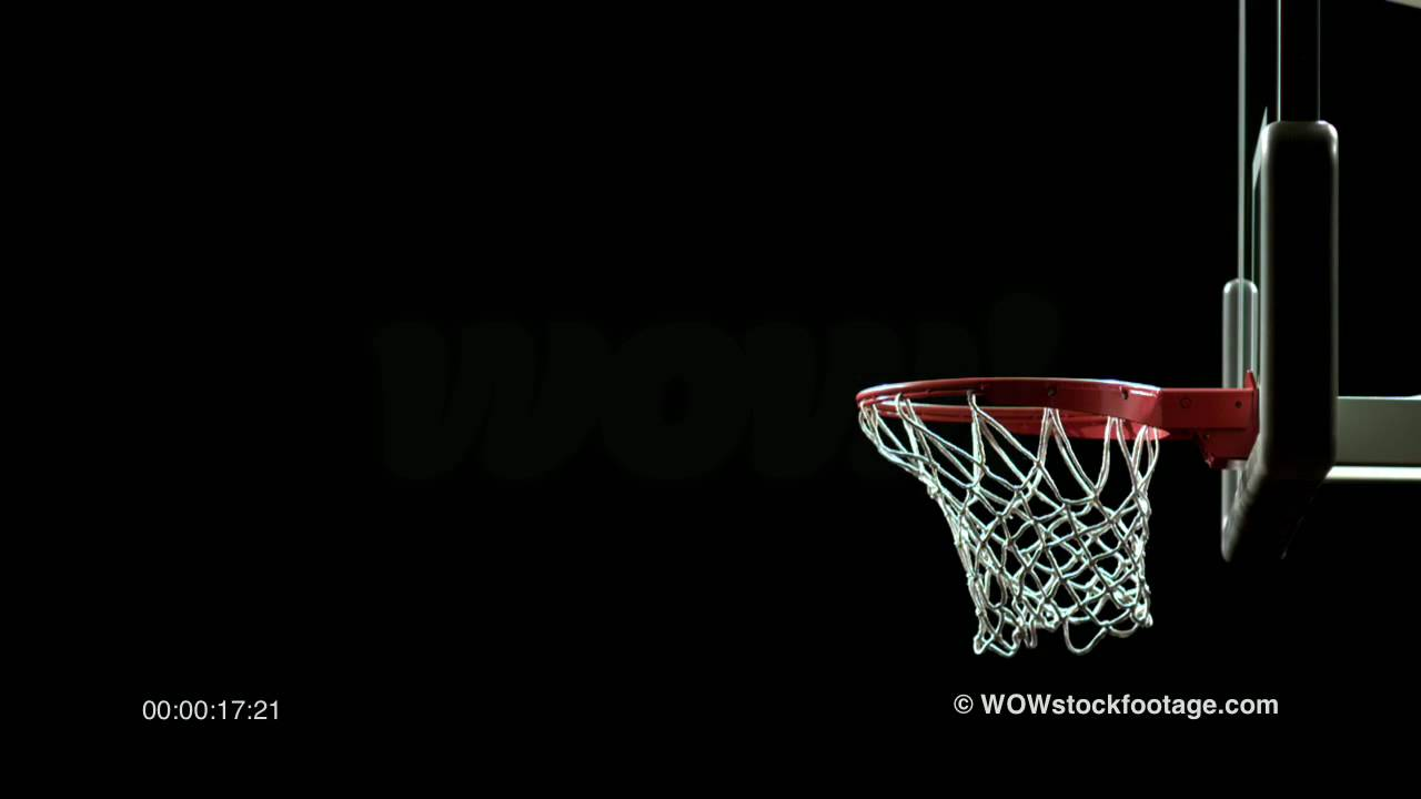 super slow motion of basketball swoosh through hoop sf0015 youtube