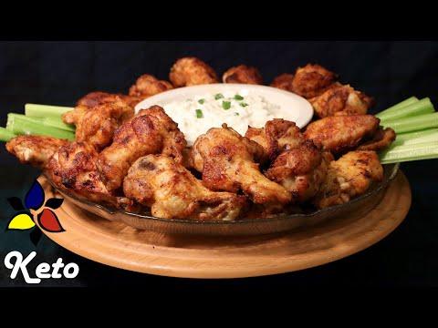Crispy Buffalo Wings Keto, Gluten Free, Sugar Free | Keto Snack | Keto Recipe