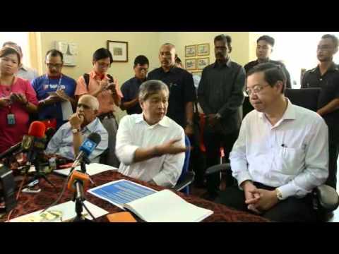 Sidang media Dato' Seri Dr  Ahmad Zahid Hamidi & Tuan Lim Guan Eng berhubung mangsa runtuhan rod pen