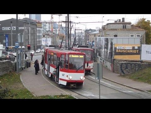 Tram traffic in Tallinn