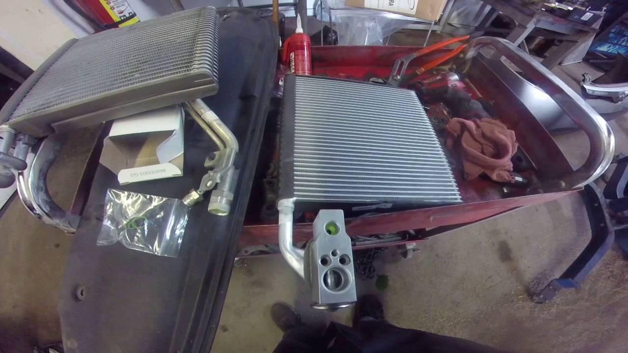 honda evaporator and expansion valve - YouTube