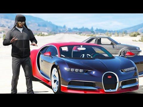 GTA 5 - COURSE DE VOITURES - BUGATTI CHIRON 2017 - CARRIÈRE AUTOMOBILE #3