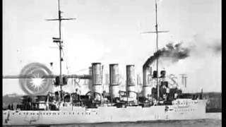 Stock Footage   German built light cruiser, the Breslau, during World War I in Dardanelles, Turkey