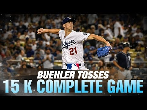 Buehler K's 15 Padres in CG gem