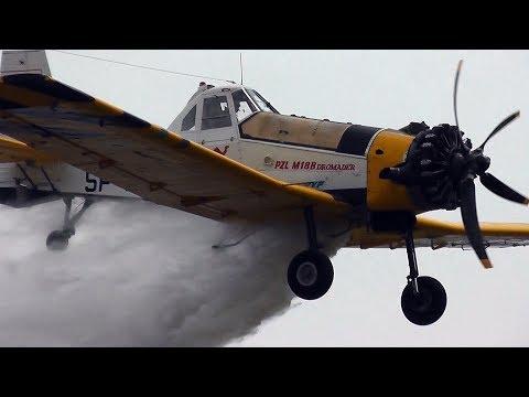 PZL M18 Dromader - Impressive Firefighting Demonstration @ Piknik lotniczy Świdwin 2015