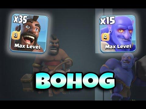 BoHog Strategy TH12 | Hog Army Smashing TH12 War 3 Star Attack Strategy Clans Of Clans