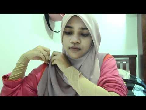 Cara membuat tudung bawal ala Najwa Latif