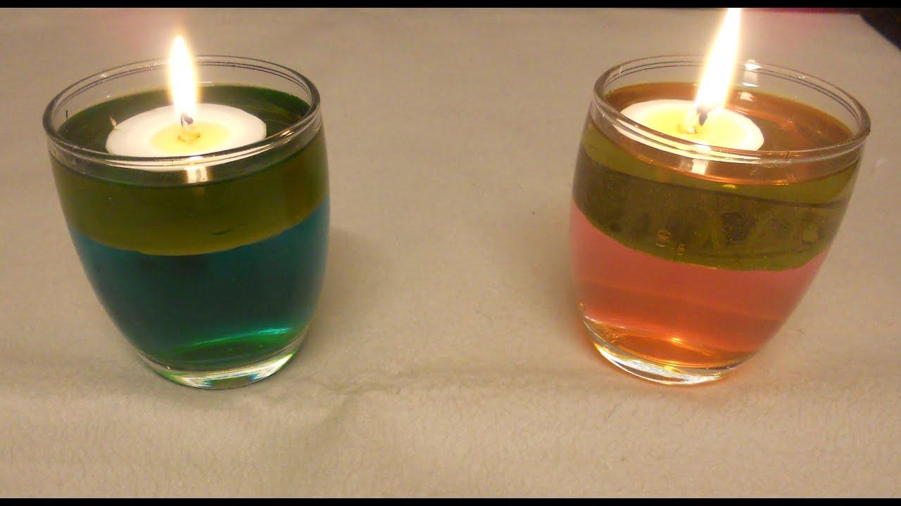 Vela de aceite y agua de colores reciclaje ecol gico youtube - Velas de agua ...