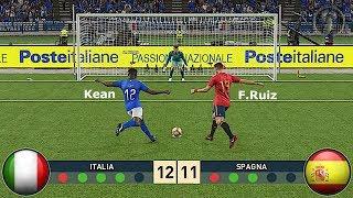 PES 2019 • Italia 🆅🆂 Spagna (UEFA Under 21) Calci di Rigore • Patch [Giù]
