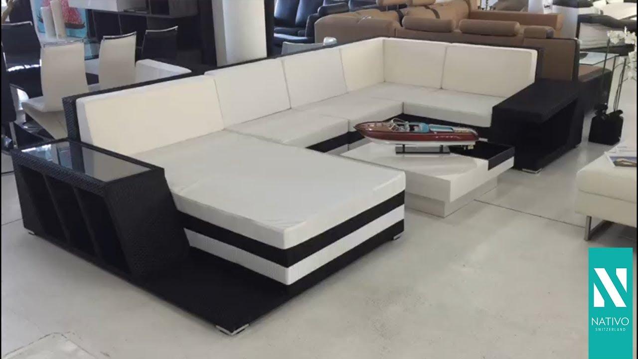 NATIVO Möbel Deutschland Designer Rattan Lounge Sofa